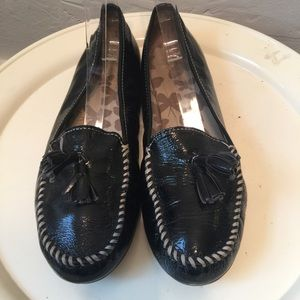 Land's End Patent Leather Driving Loafers